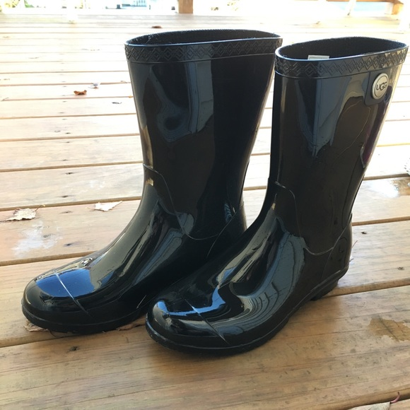 2e039d43fbf Ugg Sienna Black Mid Calf Rain Boots